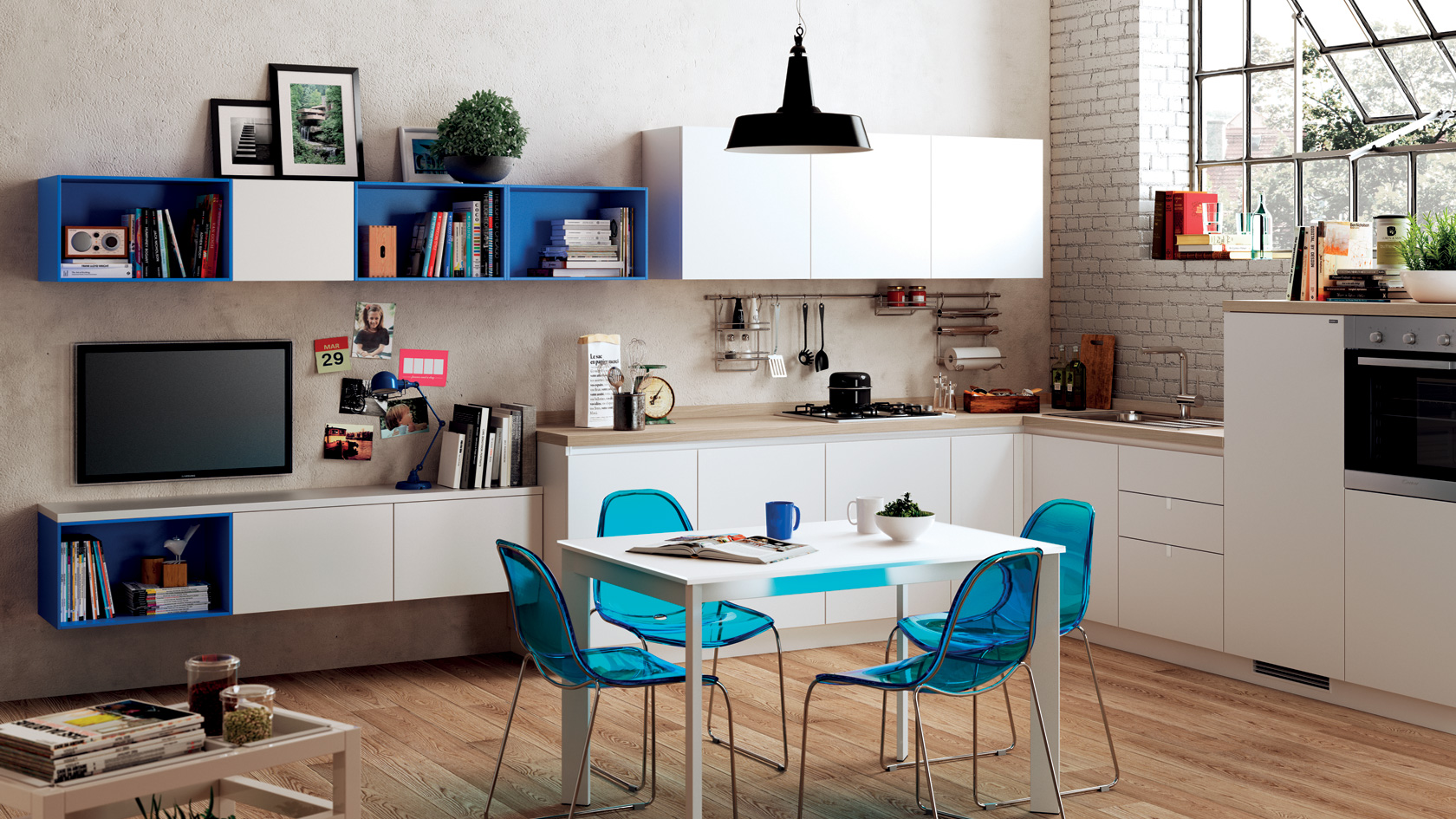 Living - sala de estar - salon Easy de Scavolini