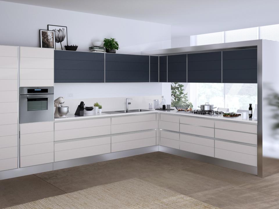 Puerta panel cristal mueble cocina for Cristal para cocina