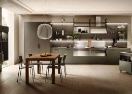 Mesa auxiliar con ruedas para modelo de cocina Mia By Carlo Craco.