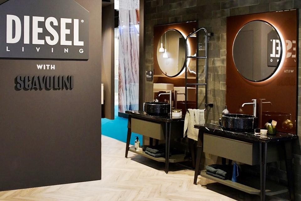 Baño Diesel Open Workshop - Novedades en Cuartos de baños presentadas por Scavolini
