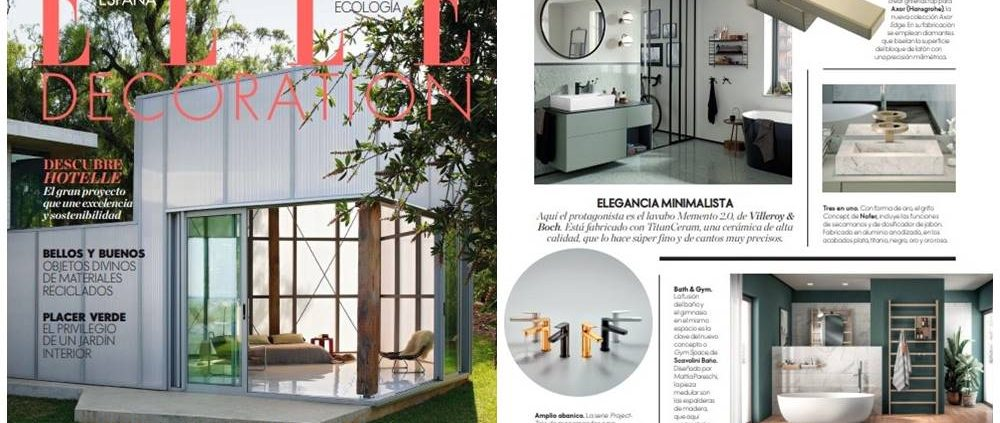 tendencias en baños elle decoration
