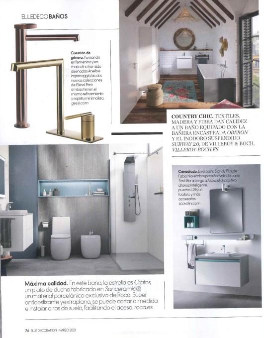 Nuevos diseños en cuartos de baño elle decoration