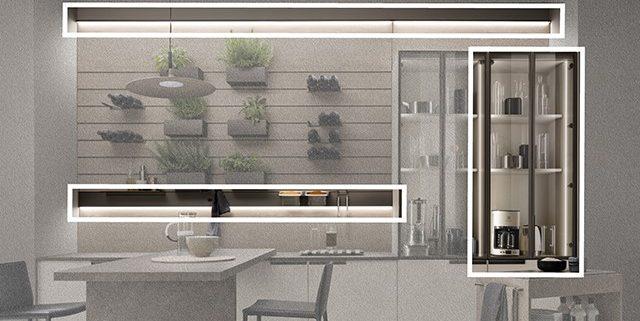 muebles de cocina con iluminacion
